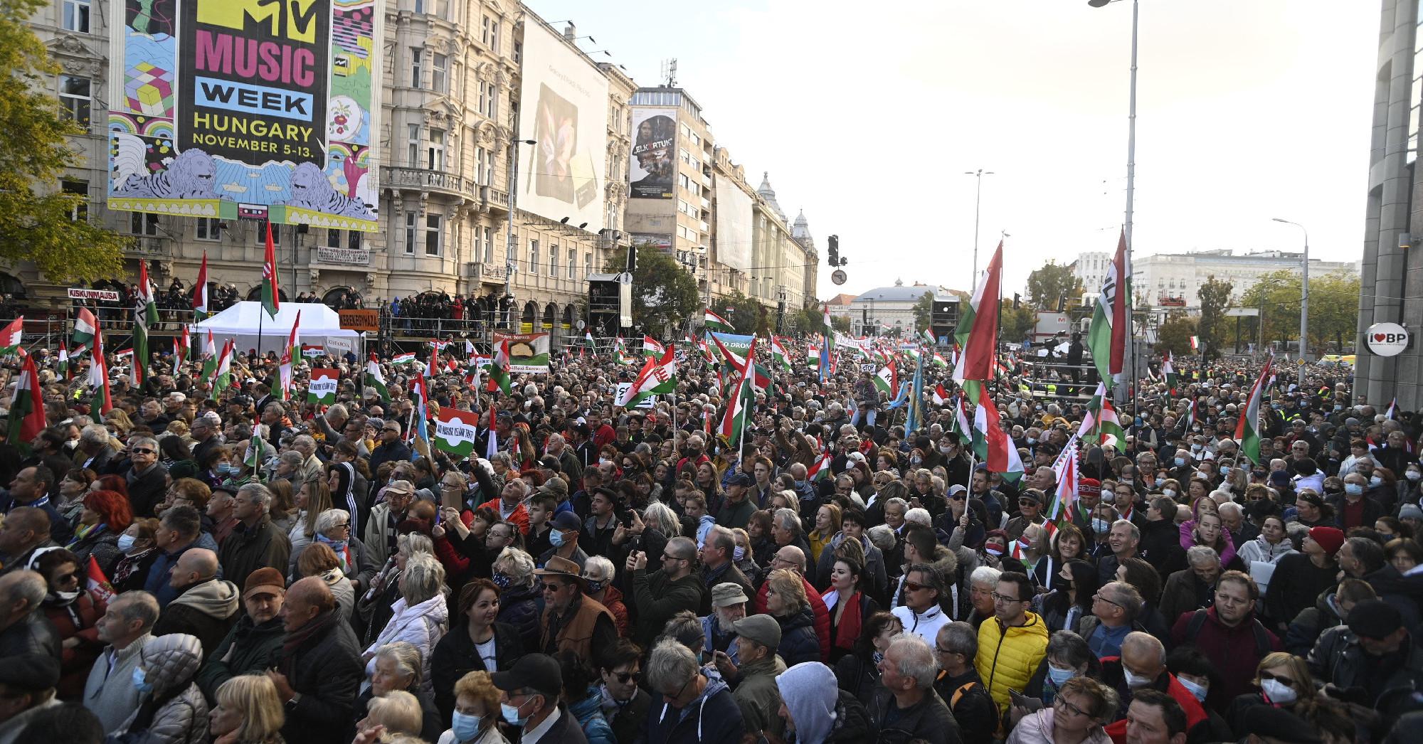 Polgárháborús hangulatú beszédet mondott Orbán Viktor október 23-án